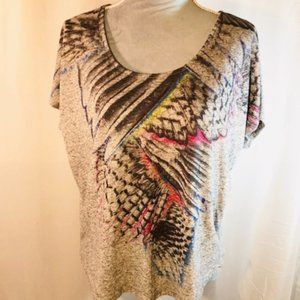 XXI Forever 21 Short Sleeve Wing Top